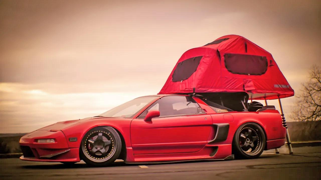 Locura camper con un Acura NSX