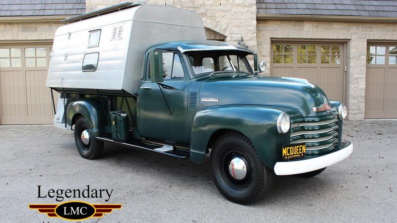 Esta camioneta Chevy de 1952 perteneció a Steve McQueen y ahora sale a la venta