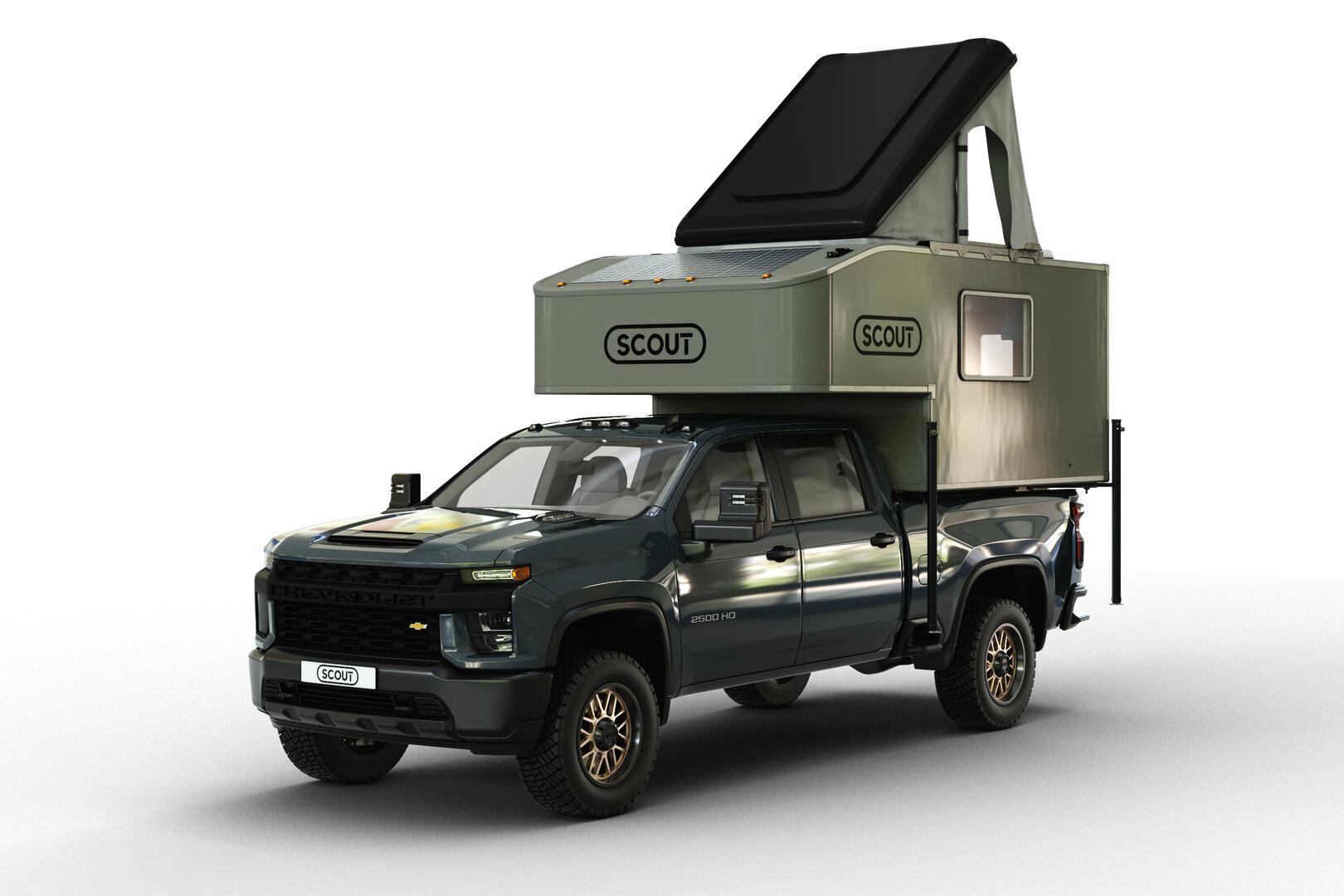 """Scout Camper y su módulo Kenai 8.0 """"camperizan"""" los pick-up"""