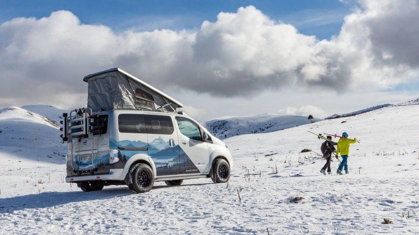 Nissan presenta la furgoneta eléctrica e-NV200 Winter Camper Concept